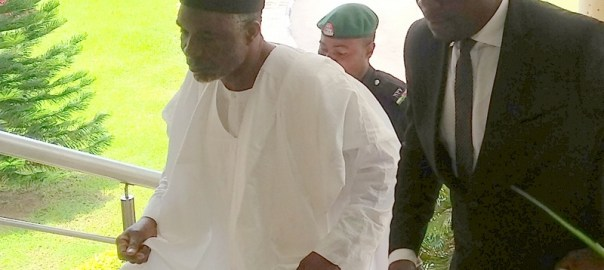 FILE PHOTO: Murtala Nyako stepping into the court