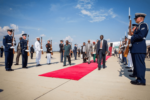 Buhari Meets Obama arrival2