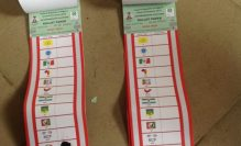 Ballot papers used to illustrate the story