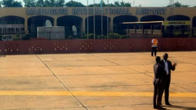Maiduguri International Airport used to illustrate the story.