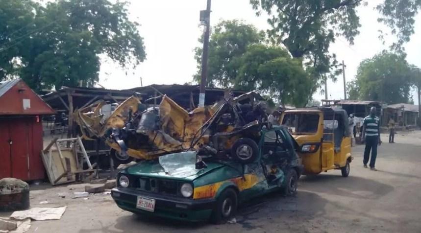 Maiduguri Blast. Photo: NEMA