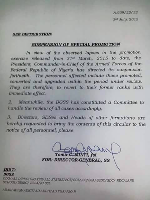 SSS suspends special promotion