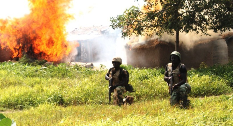 FILE PHOTO: Boko Haram notorious camp besieged by the Nigerian Military