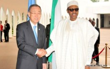PIC. 8. PRESIDENT BUHARI RECEIVES  BAN KI-MOON IN ABUJA