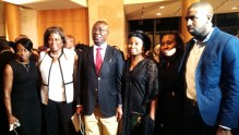 Late Ambassador Adefuye's family with Linda Thomas-Greenfield, US Assistant Secretary of State for African Affairs