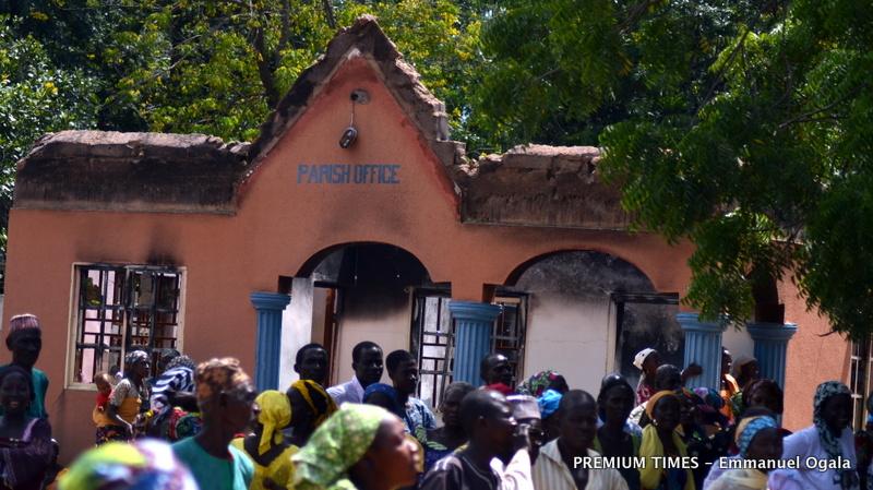 The parish office of St. Pius the 10th Catholic Church, Shuwa