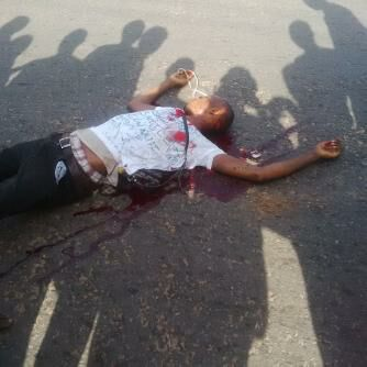 Remains of one of the killed student