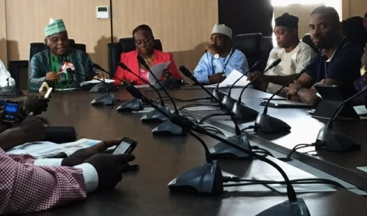 Raymond Dokpesi addressing the press on the PDP national conference in Abuja