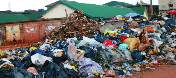 A dumpsite used to illustrate the story
