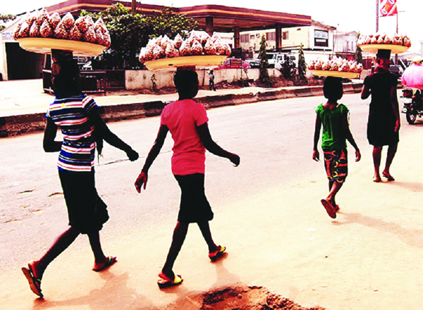 Child hawkers (Photo: The Nation)