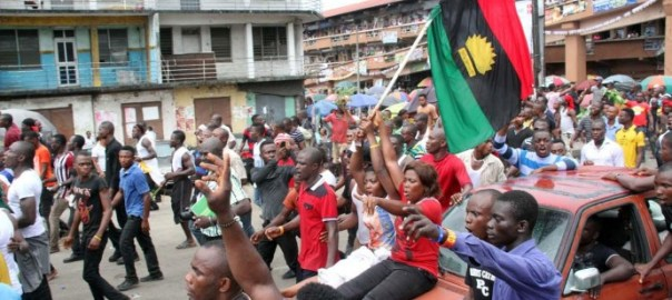 Pro-Biafra protesters [Photo: TodayNG]