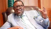 Namibia Prime Minister Hage Geingob