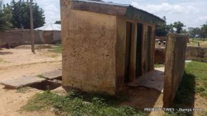 Dilapidated toilets at GJSS Sakwaya, Dutse
