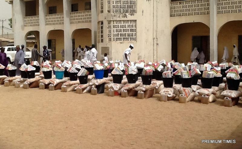 Food for IDPs at Jamatul Nasril Islam in Yola