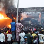 PIC 38. MRS FILING STATION GUTTED BY FIRE AT LAWANSON, IN LAGOS ON THURSDAY (28/1/16). 0567/28/01/2016/WAS/ICE/NAN