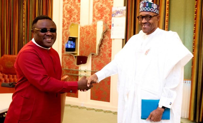 President Muhammadu Buhari welcomes Gov. Ayade of Cross River in Abuja