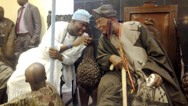 Ooni of Ife with Alake of Egbaland