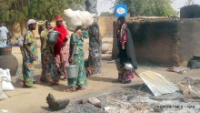 File photo of Women fleeing a village in Koduga after an attack from Boko Haram