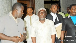 Former Minister of Interior, Abba Moro being arraigned by the Economic and Financial Crimes Commission at the Federal High Court