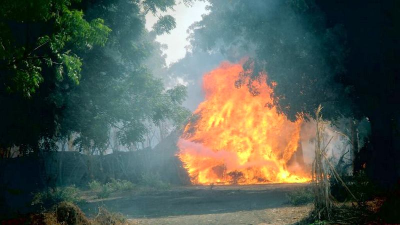 FILE PHOTO: Boko Haram camps in Sambisa been destroyed by the Nigerian Army