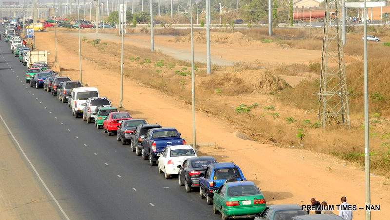 Fuel Queue used to illustrate the story.