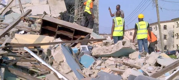 Lekki building collapse [Photo: Daily Post]
