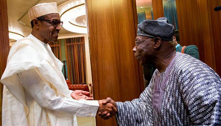 Obasanjo and Buhari at State house 2