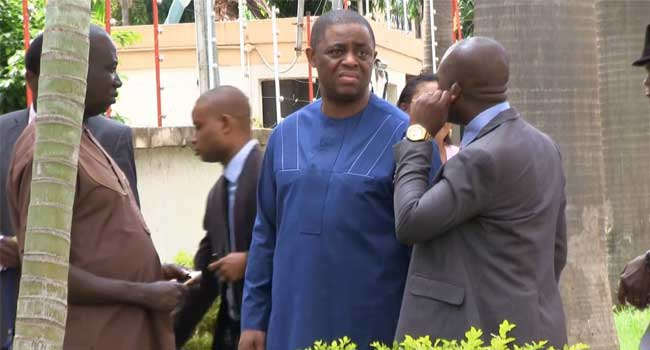 FILE PHOTO: Femi Fani-Kayode arriving the EFCC office   Photo: ChannelsTV
