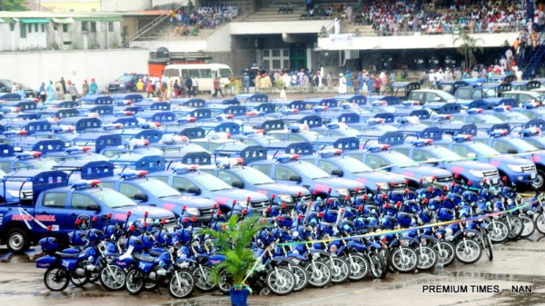 Some Security Equipment Purchase By Lagos State Government And Inaugurated By Vice President Yemi Osinbajo During His Working Visit To Lagos State As Representative Of President Muhammadu Buhari On Monday (23/7/16).3749/23/5/2016/BOA/MA/NAN