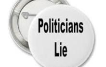 Politicians lie
