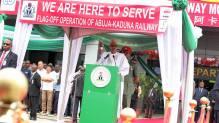 President Muhammadu Buhari speaking at the commissioning of Abuja-Kaduna train services