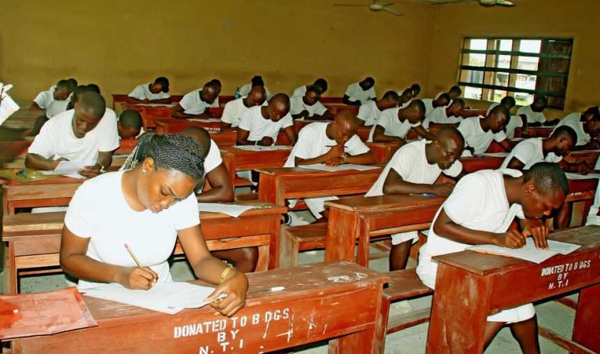 Applicants writing Police cadet examination