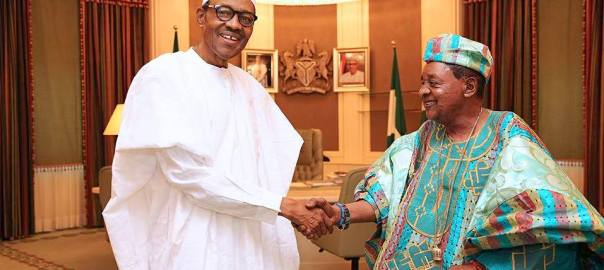 President Muhammadu Buhari and Alaafin of Oyo