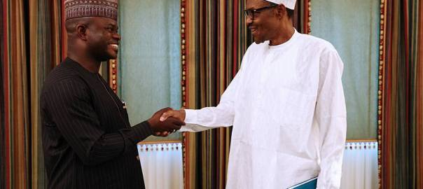 File photo of President Muhammadu Buhari with Kogi State Governor Yahaya Bello