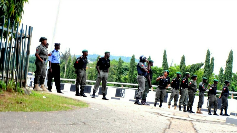 FILE PHOTO: The #BringBackOurGirls group were stopped from entering the Presidential villa on the 25th of August