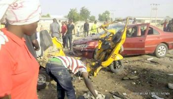 Image result for 18 killed, 29 injured in Borno multiple blasts