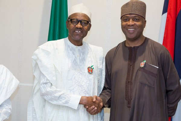 President Muhammadu Buhari and Senate President, Bukola Saraki Photo credit: The Nation
