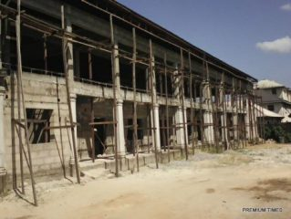 A section of the Ambassadors Glory Church under construction