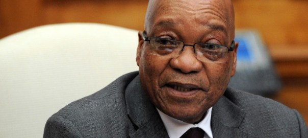 South Africa President, Jacob Zuma. AFP PHOTO / STEPHANE DE SAKUTIN