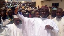Abdulmumin Jibrin during one of his visits to his constituent