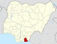 Akwa Ibom on the Nigerian map