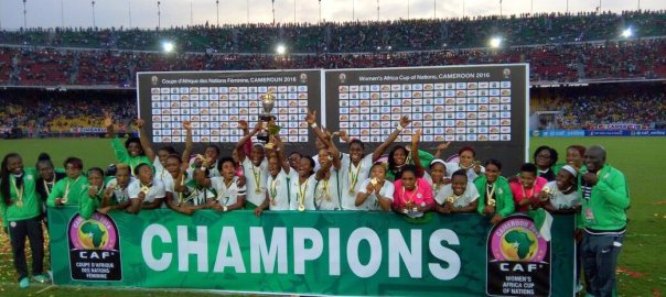 Image result for pic of nigeria win africa women championship in cameroon