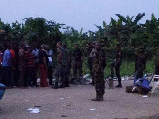 Protesters protesting irregularities in the just concluded Rivers rerun elections