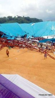 File photo of the collapsed Church building in Akwa Ibom