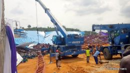 Collapsed Uyo church