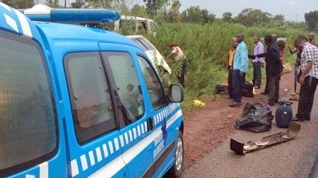FILE: FRSC on an accident site [Photo credit: Instagram: @frscnigeria]