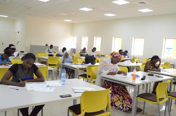 Candidates writing the AUN Scholarship exams
