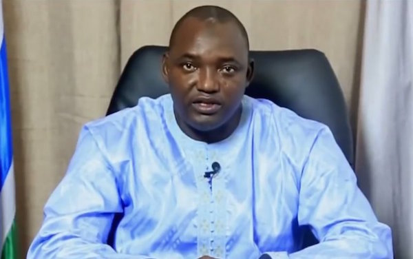 President Adama Barrow (Photo credit: Adeola Fayehun)