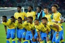 Gabon national team. [Photo credit: KHALED DESOUKI]
