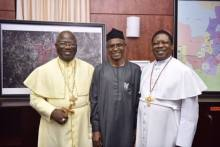 Samuel Chukwuemeka Kanu is the Primate of the Methodist Church of Nigeria with Kaduna State Governor, Nasir El-Rufai